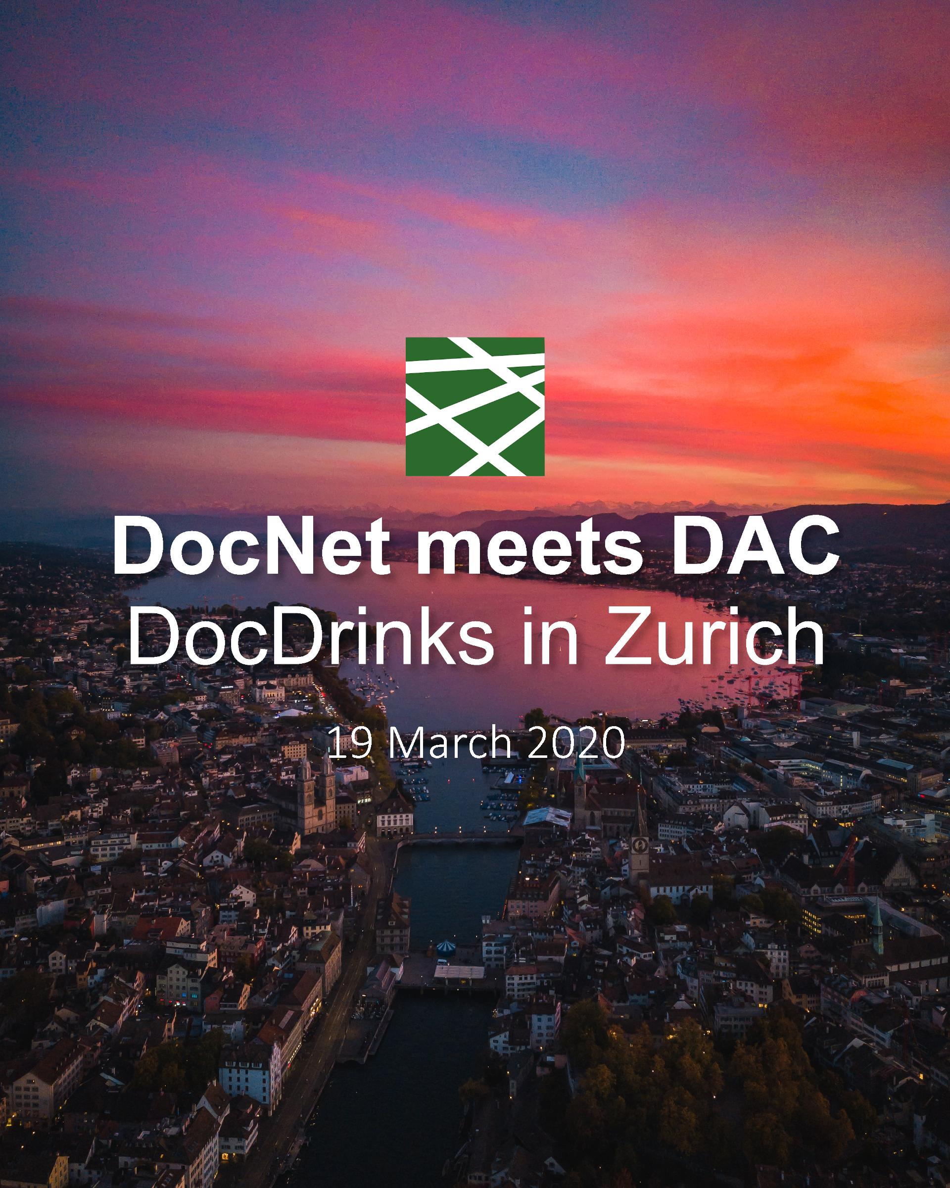 Postponed: DocNet meets DAC – DocDrinks in Zurich